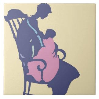 <It's a Girl> by Steve Collier Ceramic Tile