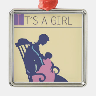 <It's a Girl> by Steve Collier Metal Ornament