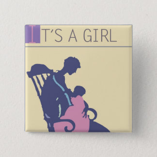<It's a Girl> by Steve Collier Pinback Button