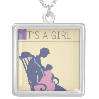 <It's a Girl> by Steve Collier Silver Plated Necklace