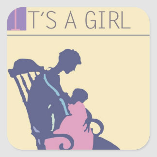 <It's a Girl> by Steve Collier Square Sticker
