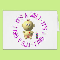 It's a girl! card
