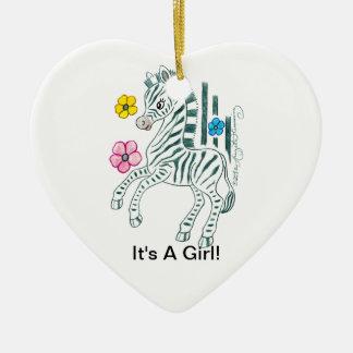 It's a Girl Ceramic Ornament