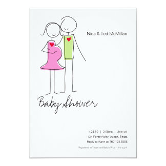 It's a Girl, Coed Baby Shower Invitations, 5x7 Card