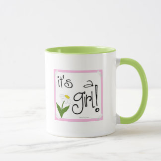 It's a Girl coffee mug, super cute daisy design Mug