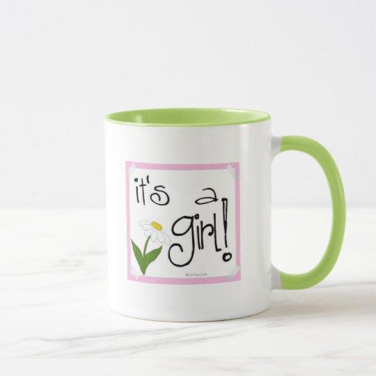 It's a Girl coffee mug, super cute daisy design Mug