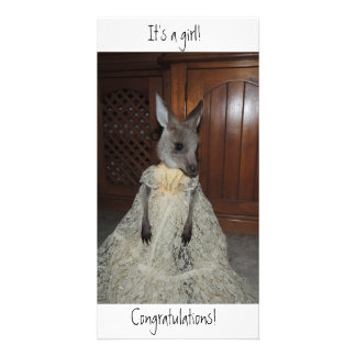 It's a girl! Congratulations! Birth card