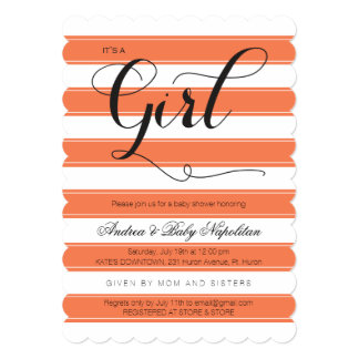 It's a Girl | Coral Baby Shower Card