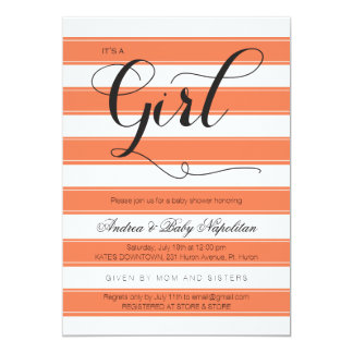 It's a Girl | Coral Baby Shower Invites