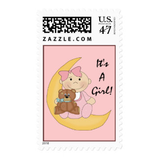 It's A Girl - Cute Baby Cartoon Postage