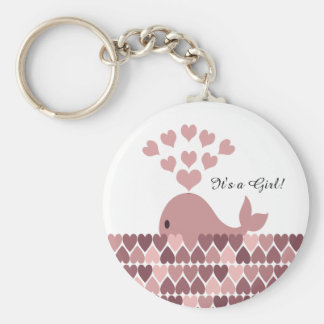 It's a Girl! Cute Pink Whale Keychain