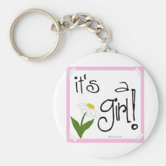 It's a Girl! cute ways to Announce a birth! Keychain