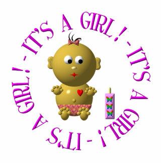 It's a girl! cutout
