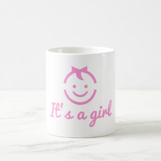 it's a girl design with cute baby face icon coffee mug