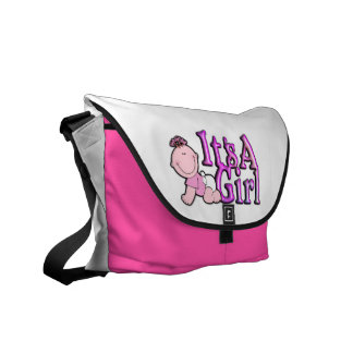 It's a Girl Diaper Bag with Baby Girl