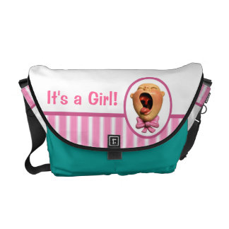 It's a Girl Diaper Courier Bag
