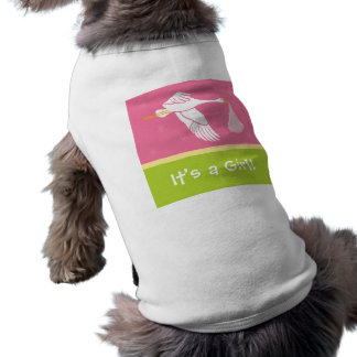 It's a Girl! Dog Tank - Pink/Green Tee