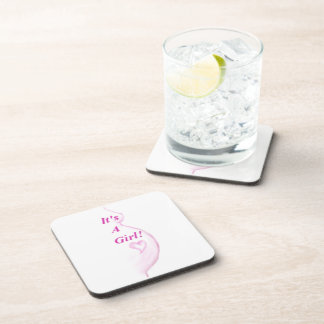 It's A Girl! Drink Coaster