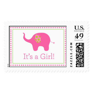 It's a Girl! Elephant stamp