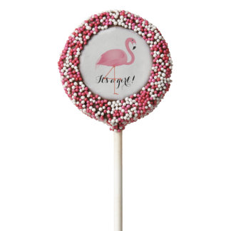 It's a girl flamingo oreo cookie pop