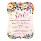 It's A Girl Floral Garden Baby Shower Invitation
