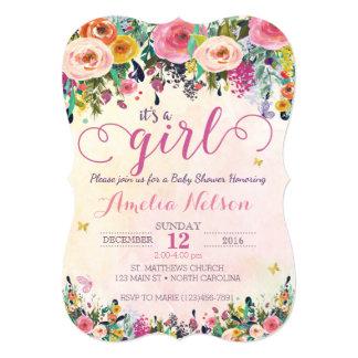 Baby Girl Shower Invitations Zazzle