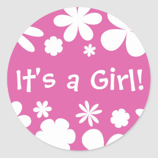 It's a Girl! Flower Power Envelope Sticker Seal