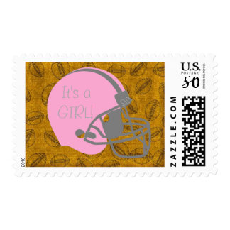 It's a Girl Football themed Postage