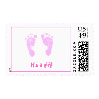 It's a girl -footprints postage