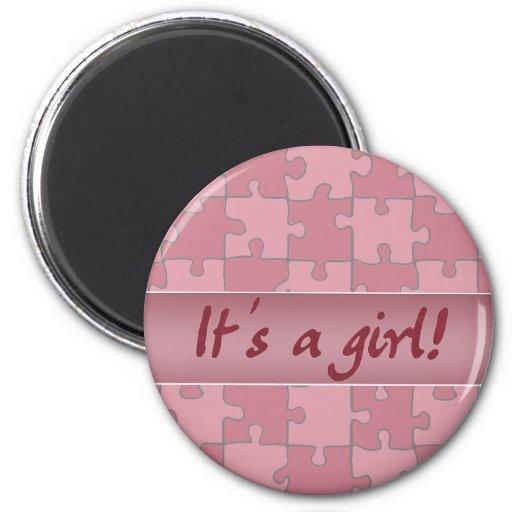 It's a girl! fridge magnets