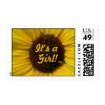 It's a Girl Giant Sunflower Stamps