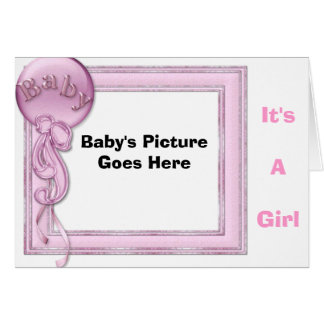 It's A Girl, Greeting Card