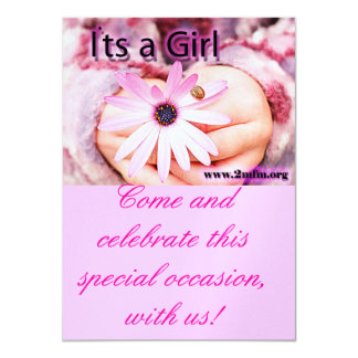 Its a girl invitation! card