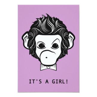 it's a girl! lil monkey card