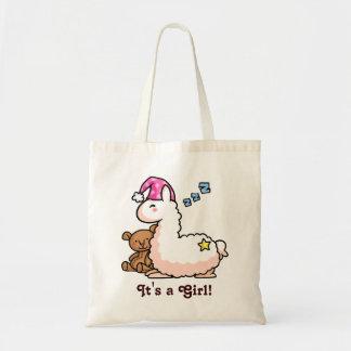 It's a Girl Llama! Canvas Bags