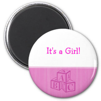 It's a Girl! Refrigerator Magnet