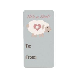 It's a Girl! Mama Sheep Address Label