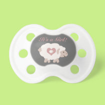 It's a Girl! Mama Sheep Pacifier