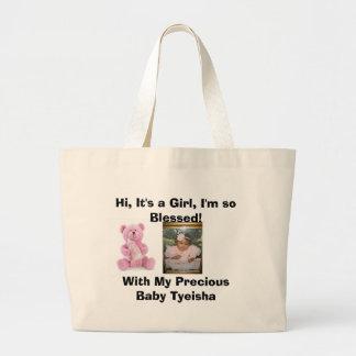 It's a Girl Message Bear Bag