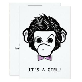 it's a girl! mister monkey card