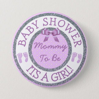 Its a Girl, Mommy to be Baby Shower Button