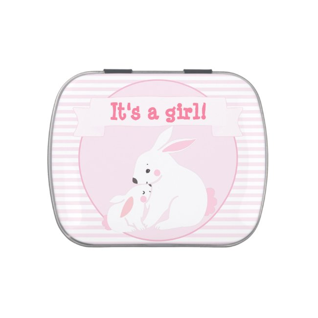 It's a girl Mother & Baby Girl Bunny Baby Shower