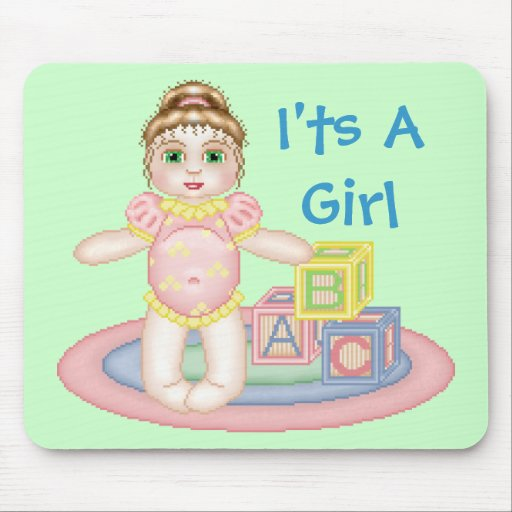 I'ts A Girl Mousepad