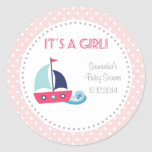 It's A Girl Nautical Sailboat Baby Shower Stickers Stickers