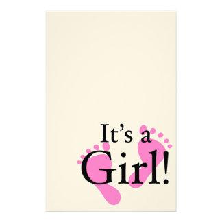 It's a Girl - Newborn, Baby, Baby shower Stationery
