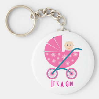 It's A Girl: Newborn Baby Save The Date Keychain