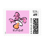 It's A Girl (Pacifier) Postage Stamp
