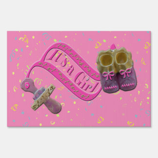 It's a Girl Pacifier Shoes Sign