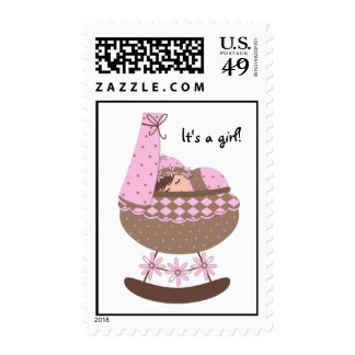 It's a girl! Personalized Postage Stamp