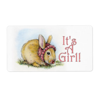 It's a Girl! Personalized Shipping Label